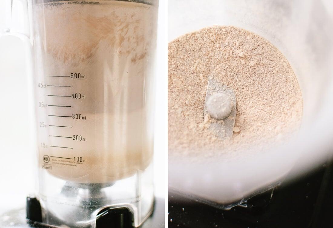 blending sugar in blender