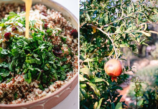 quinoa, herb and pomegranate salad