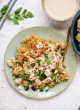 Roasted Cauliflower, Freekeh and Garlicky Tahini Sauce