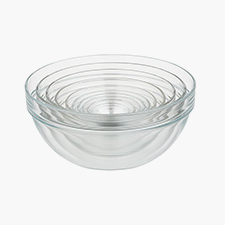 10-piece nesting glass bowl set