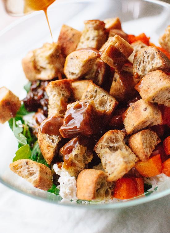 Balsamic kale panzanella - cookieandkate.com