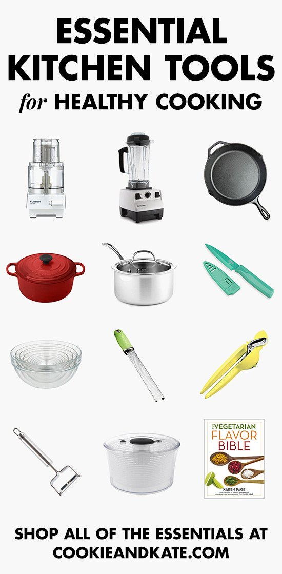 Find all the essential kitchen tools for healthy cooking! cookieandkate.com