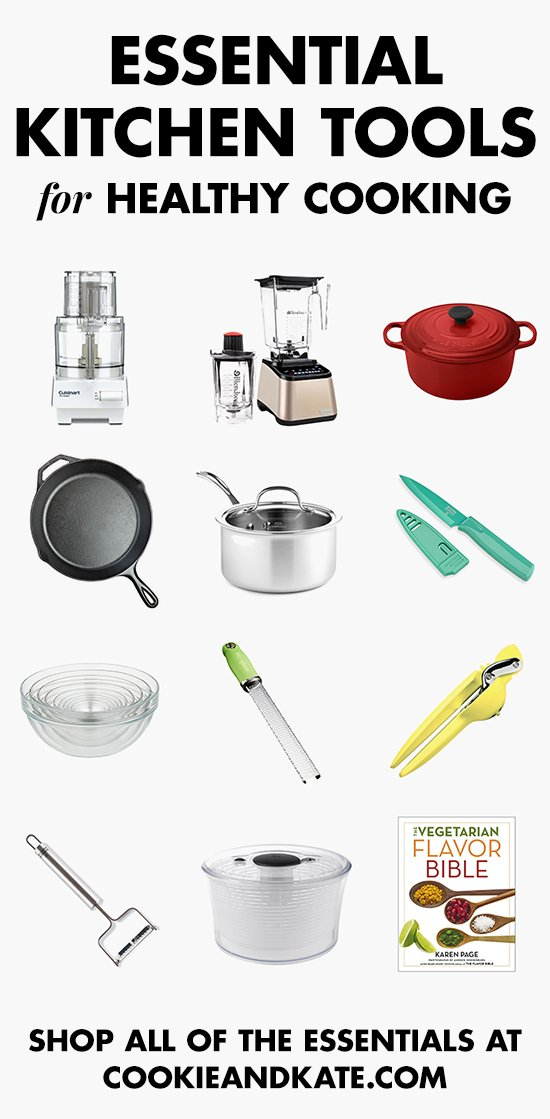 Find all the essential tools for healthy cooking! cookieandkate.com
