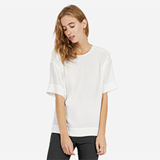 everlane silk short sleeve crew