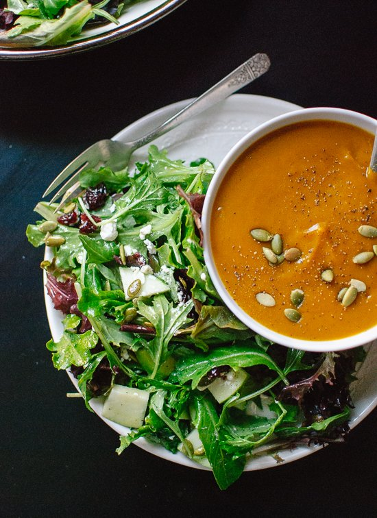 My favorite green salad, the perfect side for cold weather meals! cookieandkate.com