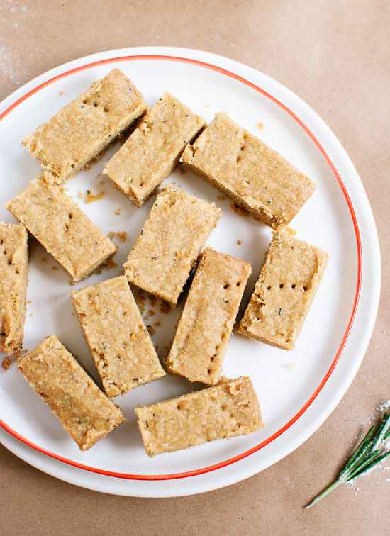 Lemon, Rosemary and Olive Oil Shortbread - cookieandkate.com
