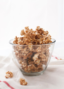 Maple almond caramel popcorn - cookieandkate.com
