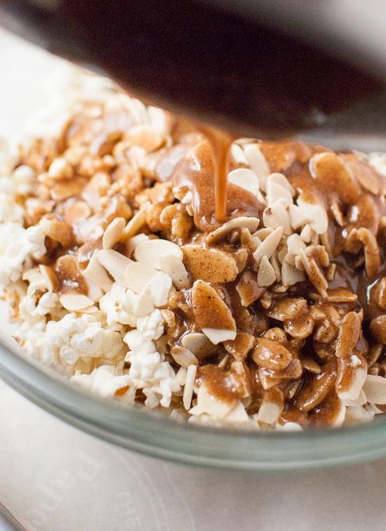 Natural-sweetened caramel popcorn recipe - cookieandkate.com