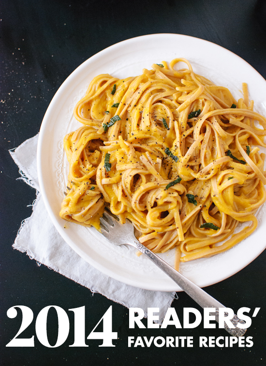 Top 10 readers' favorite vegetarian recipes from 2014! All vegetarian. cookieandkate.com