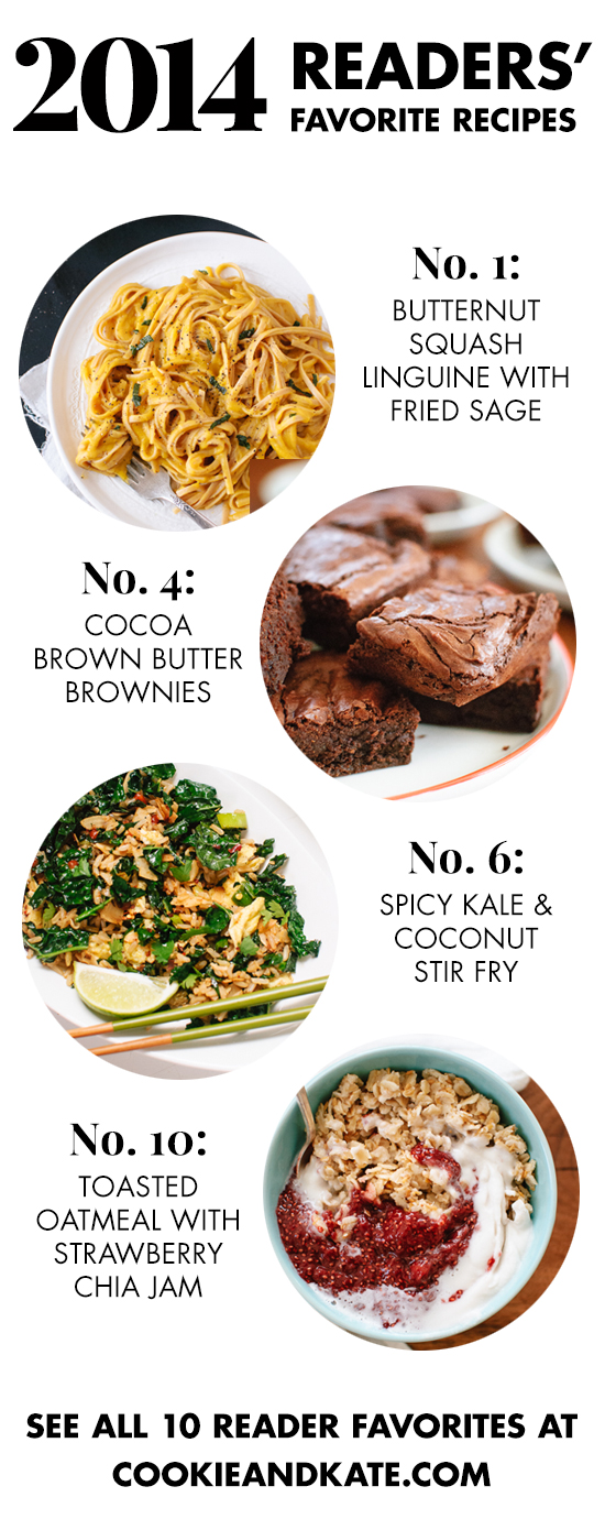 Top 10 favorite vegetarian recipes from 2014! See them all at cookieandkate.com