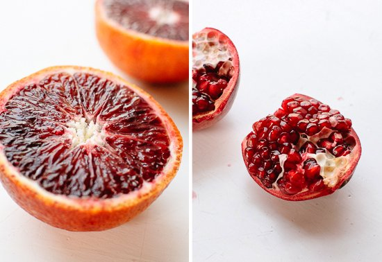 blood orange and pomegranate