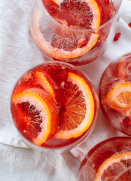 Blood Orange and Pomegranate Sparkling Sangria