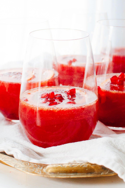 blood orange pomegranate sparkling sangria recipe