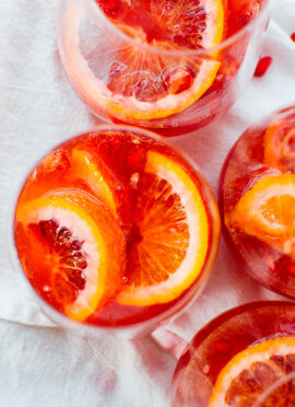 blood orange pomegranate-sparkling sangria recipe
