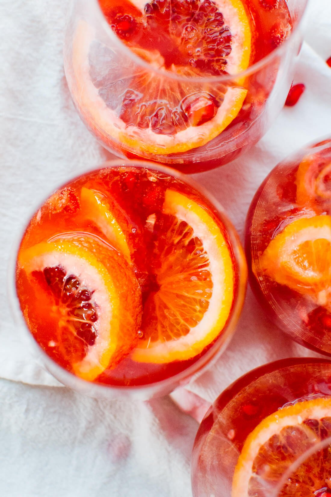 blood orange pomegranate sparkling sangria recipe
