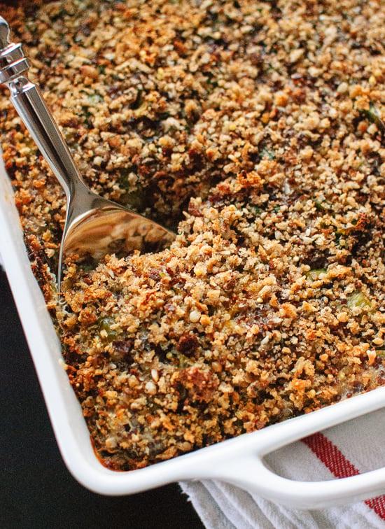 Brussels quinoa gratin recipe - cookieandkate.com