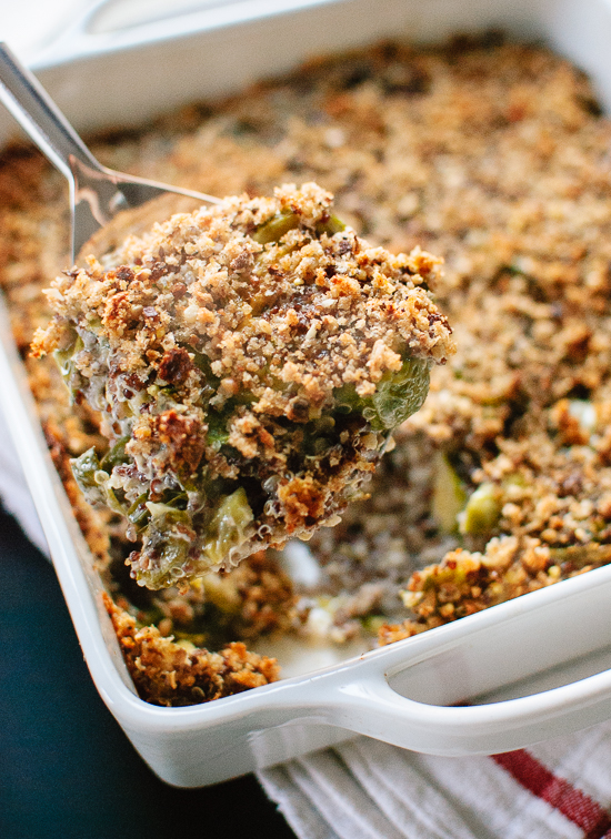 Roasted Brussels Sprout Quinoa Gratin - Cookie and Kate