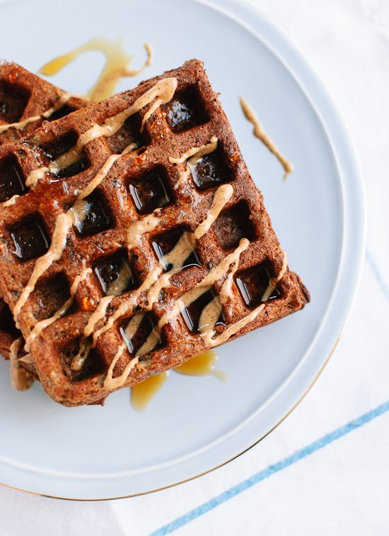 These buckwheat waffles are light, crisp on the outside and fluffy on the inside (gluten free, too!) - cookieandkate.com