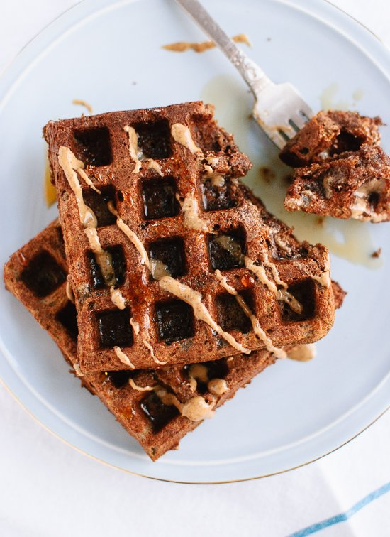 Buckwheat waffles with almond butter - cookieandkate.com