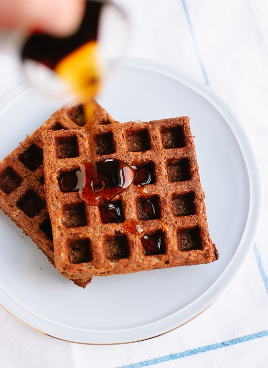 Buckwheat waffles with maple syrup - cookieandkate.com
