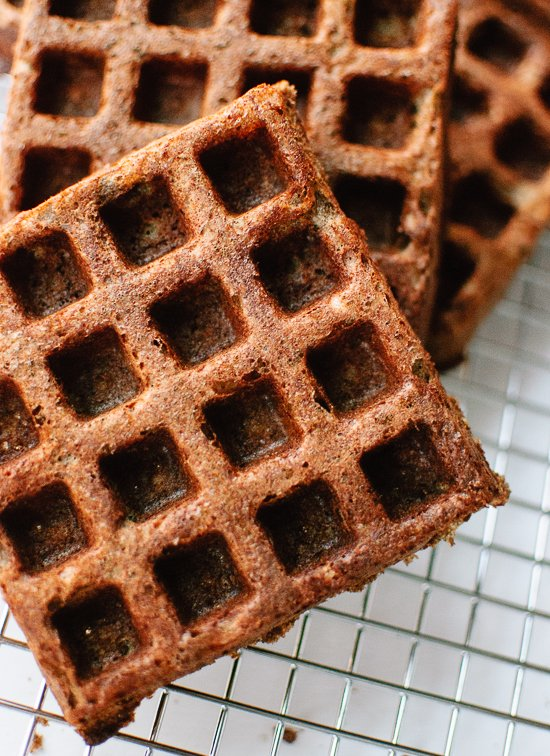Buckwheat waffles - cookieandkate.com