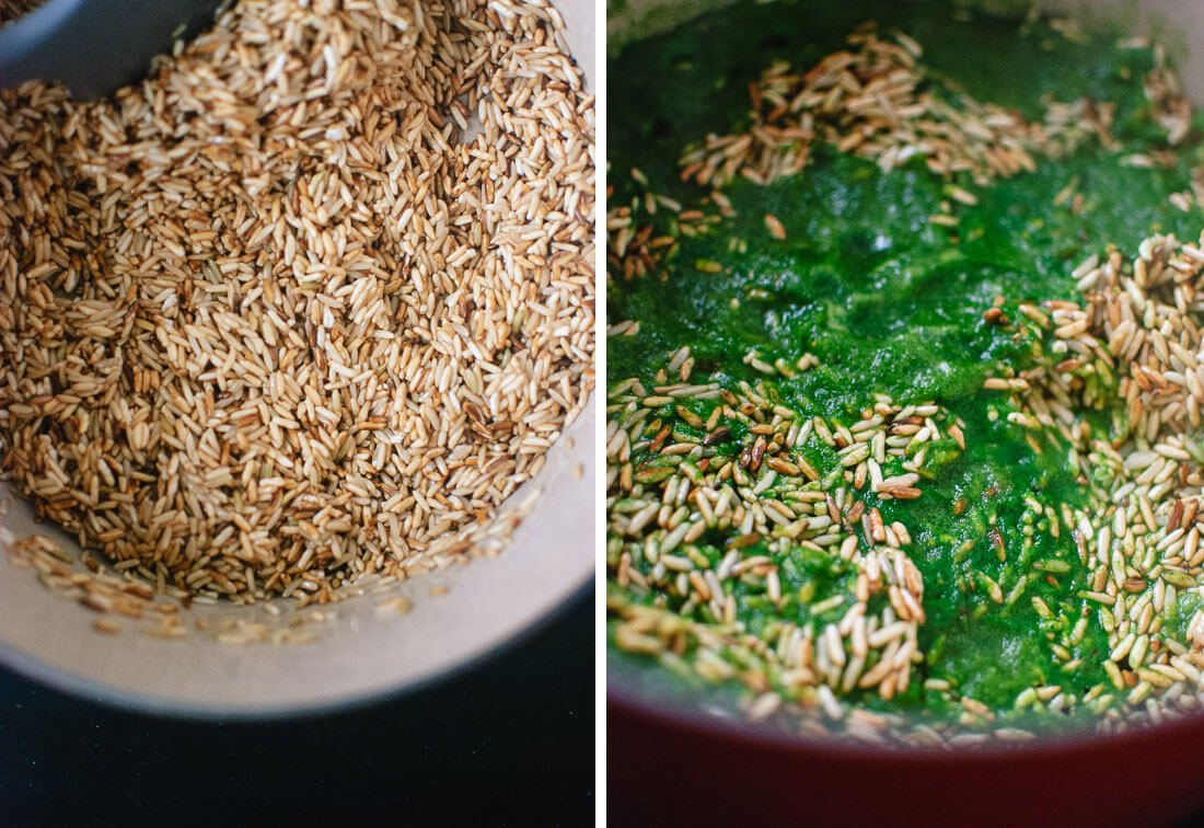 how to make green brown rice