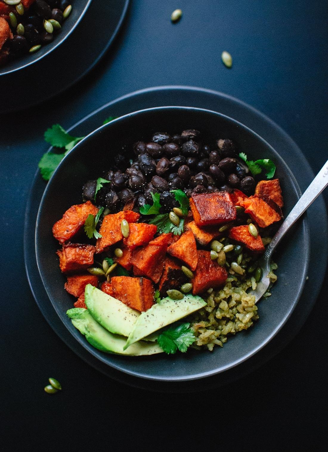 Sweet Potato And Green Rice Burrito Bowls Cookie And Kate