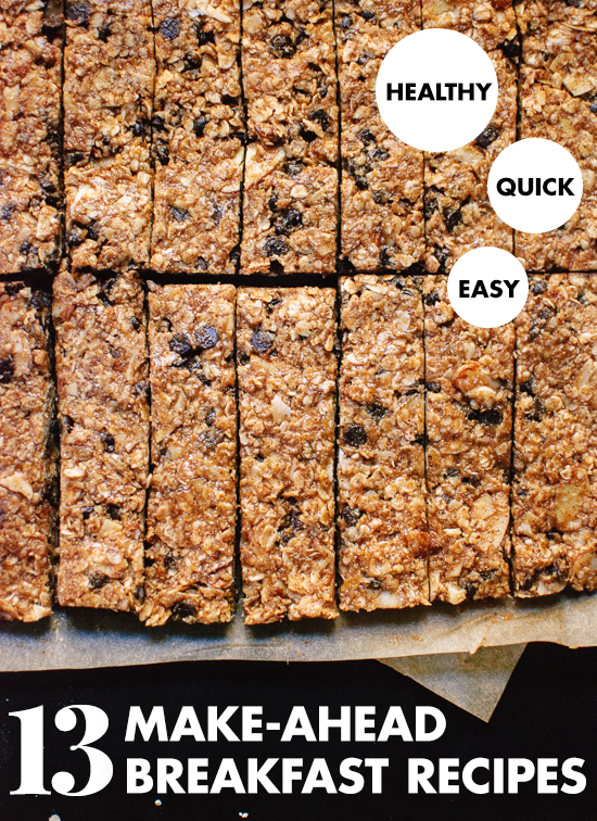 13 healthy make-ahead breakfast recipes - cookieandkate.com