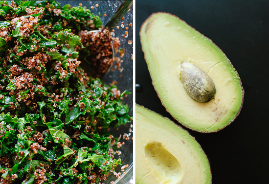 kale, quinoa and avocado