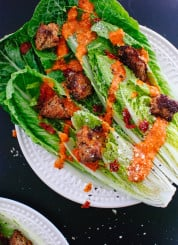 Sun-dried tomato Caesar salad recipe from Date Night In by Ashley Rodriguez - cookieandkate.com