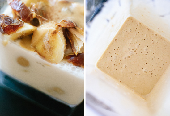 tahini, date and banana smoothie