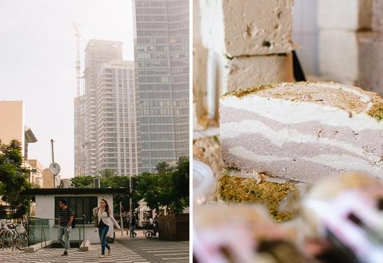 Tel Aviv and halvah