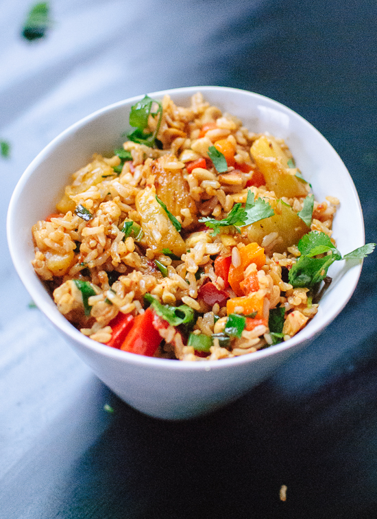 Simple Thai pineapple fried rice #vegetarian - cookieandkate.com