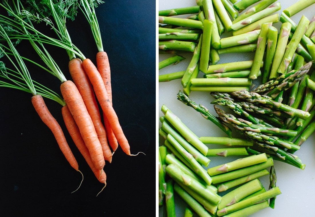 carrots and asparagus