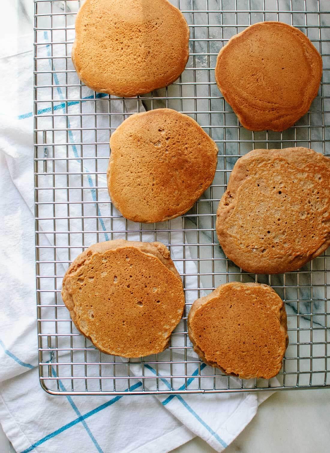 Easy vegan pancake recipe - cookieandkate.com