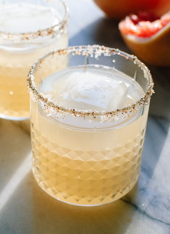 Spicy and sweet grapefruit margaritas - cookieandkate.com
