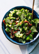 Healthy Greek broccoli salad, perfect for potlucks! - cookieandkate.com