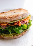 Healthy vegan hummus sandwich - cookieandkate.com
