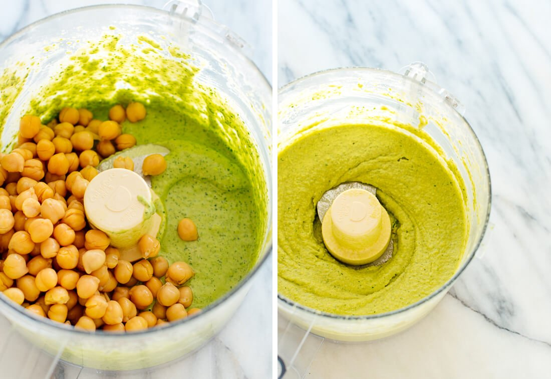 hummus blending stages