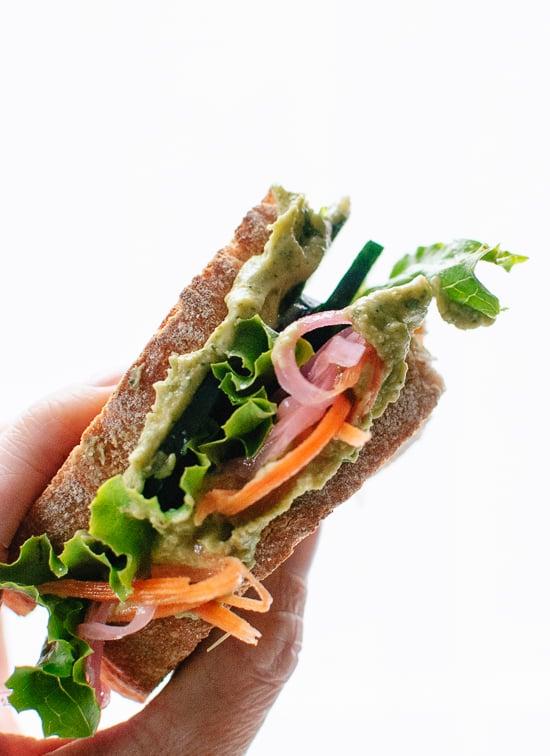 Healthy hummus sandwich - cookieandkate.com