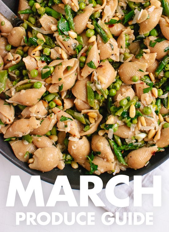 Learn what to do with March fruits and vegetables! Find recipes, preparation tips and more. cookieandkate.com