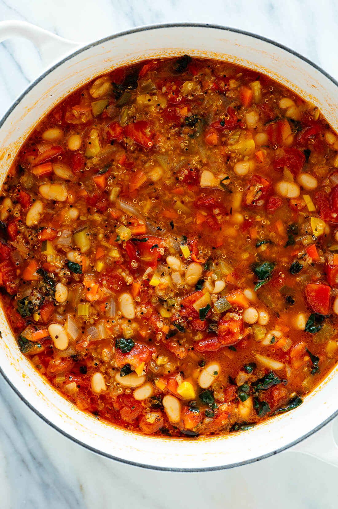 pot of quinoa vegetable soup