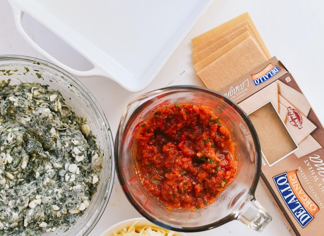 spinach lasagna ingredients