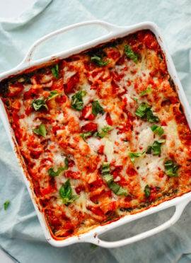 Fresh spinach artichoke lasagna