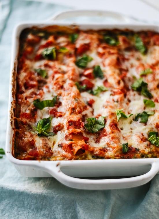 Homemade spinach lasagna - cookieandkate.com