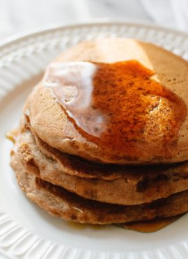 The very best vegan pancake recipe. Even better than regular pancakes! cookieandkate.com