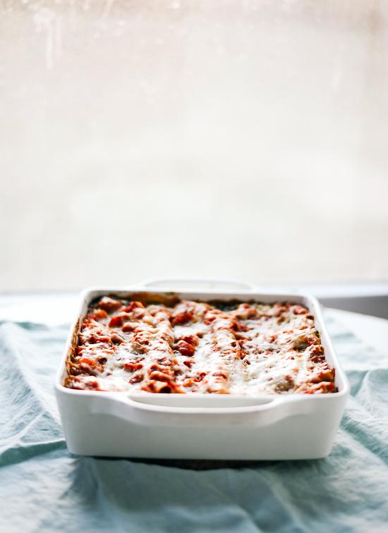 vegetarian spinach lasagna - cookieandkate.com