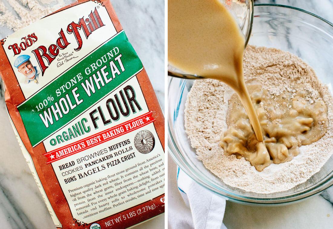 whole wheat vegan pancakes