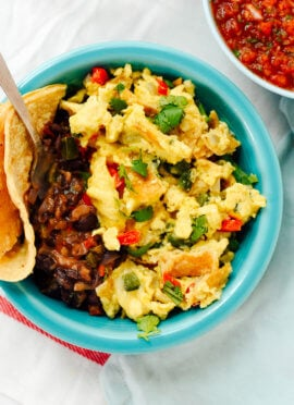 Austin-Style Migas with Black Beans