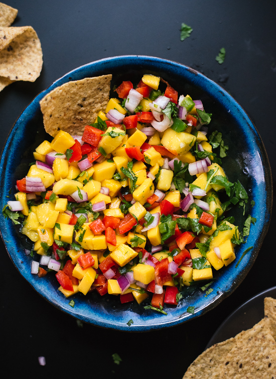 20 summer potluck recipes cookie and kate fresh mango salsa recipe perfect for tacos potlucks and more cookieandkate forumfinder Image collections